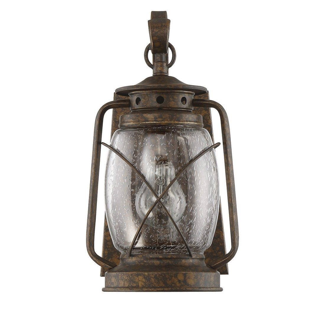 Outdoor Wall Sconce Half Sun And Details Rustic Light: Savoy House Smith Mountain Outdoor Wall Lantern In