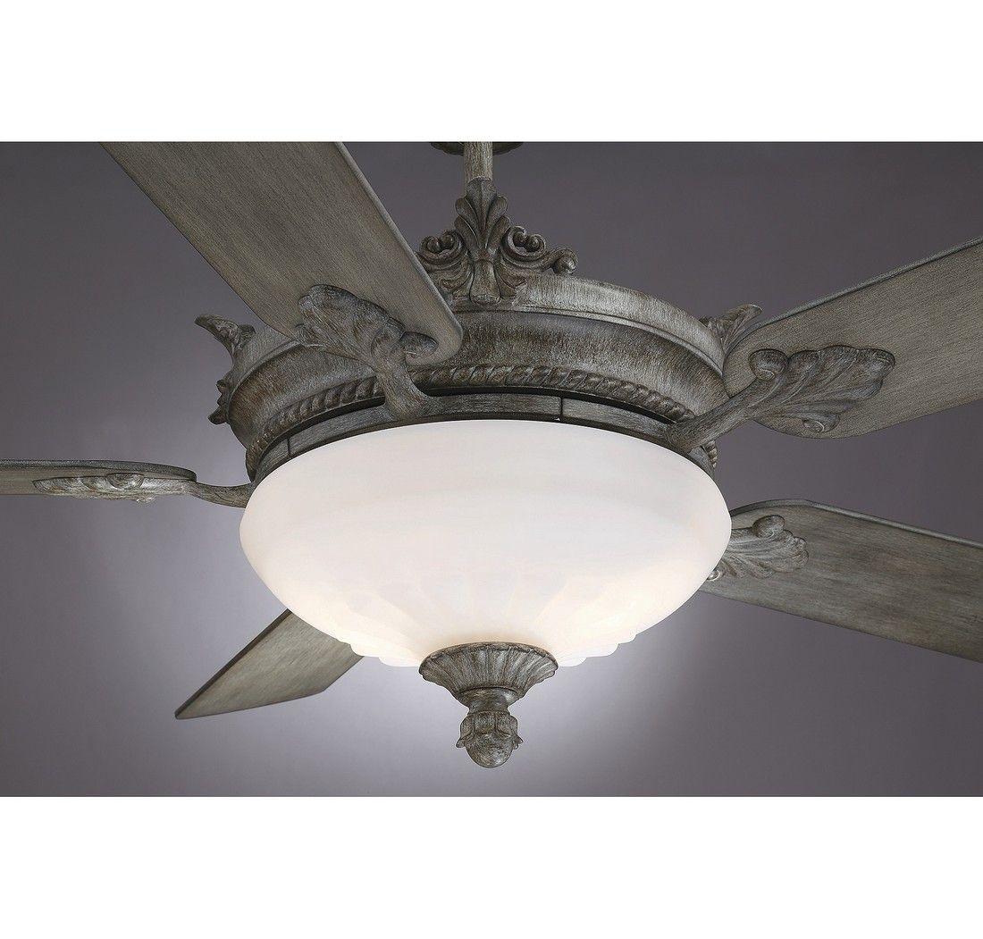 "Savoy House Bristol 52"" 2-Light Ceiling Fan In Aged Wood"