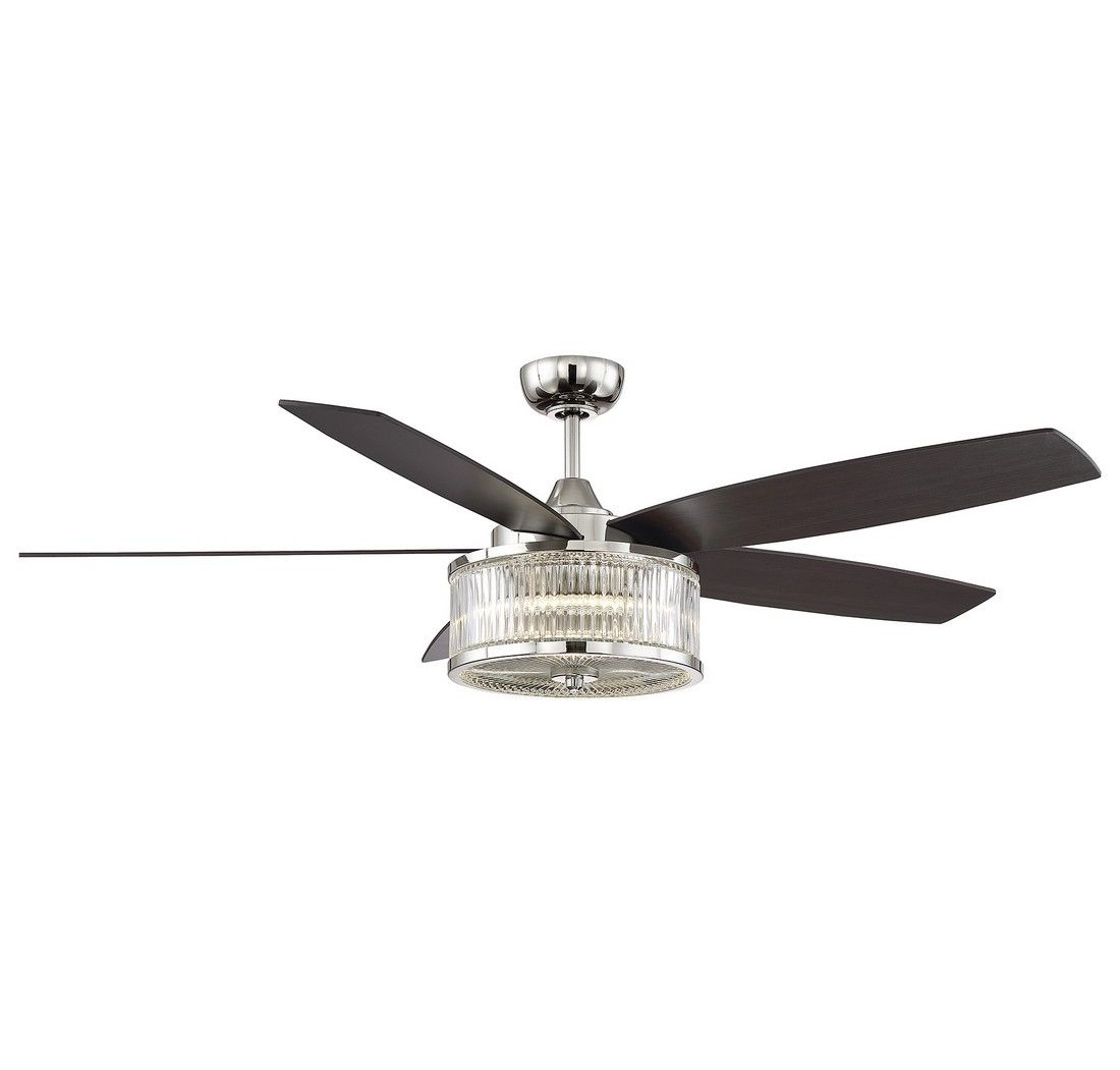 """Savoy House Phoebe 56"""" Ceiling Fan In Polished Nickel"""