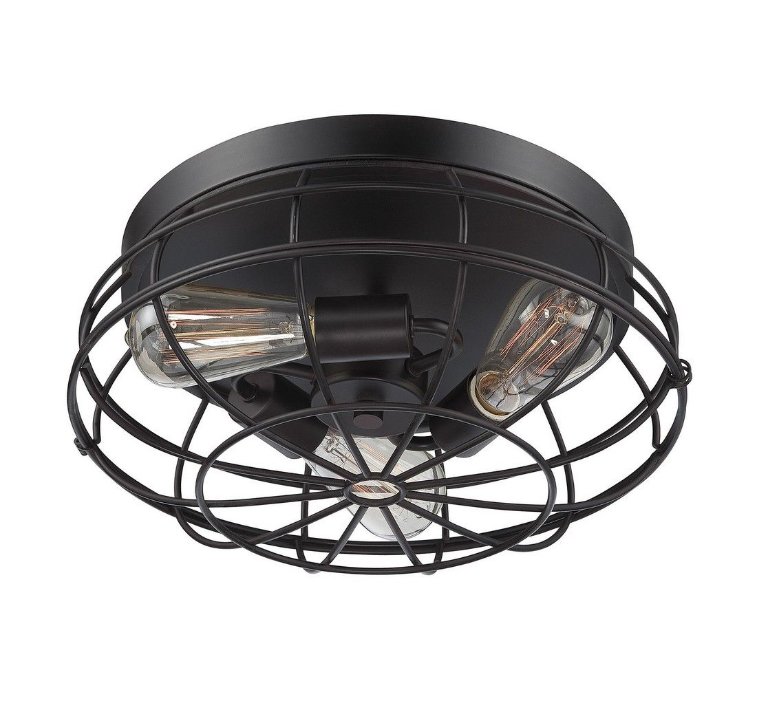 Savoy House Scout 3 Light Ceiling Light In English Bronze
