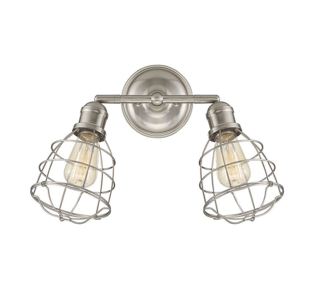 Savoy House Scout 2 Light Adjustable Sconce In Satin Nickel