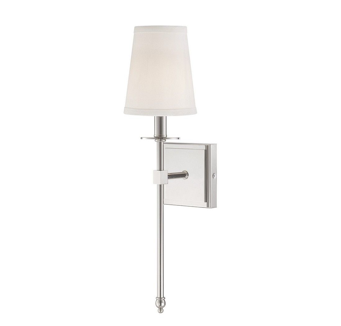Savoy House Monroe 20 Wall Sconce In Polished Nickel