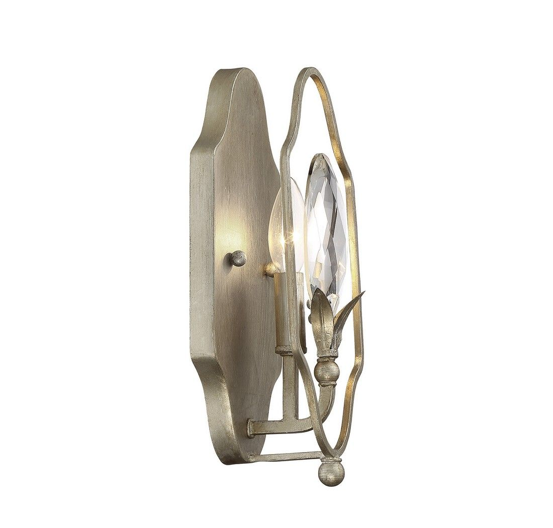 Savoy House Hyde Park Sconce In Argentum Wall Sconces