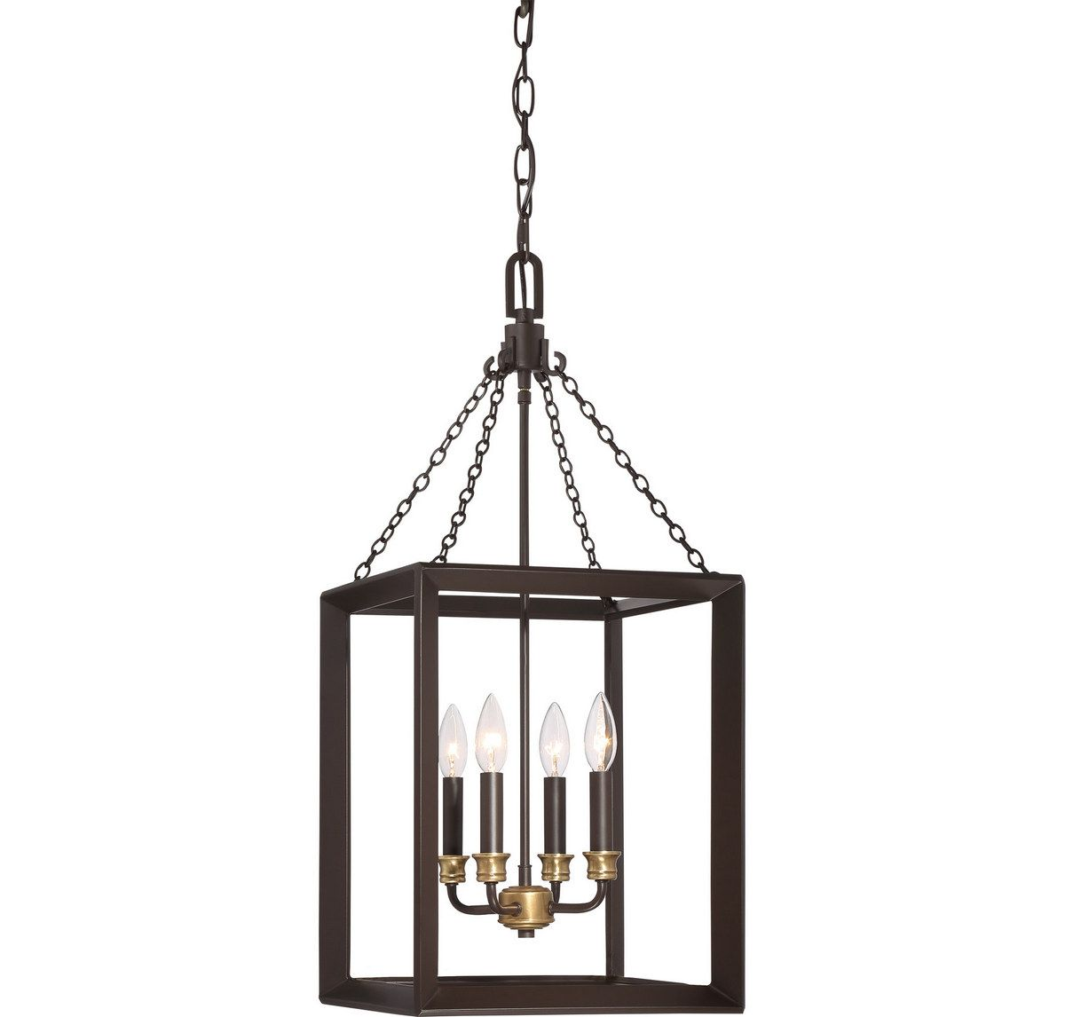 Quoizel Brook Hall 4-Light Cage Chandelier In Western