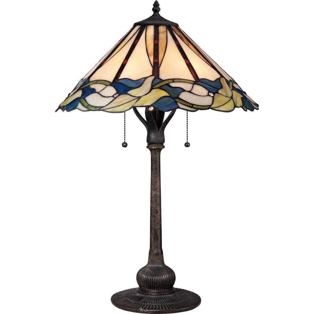 Quoizel Tiffany Lily 2 Light Table Lamp In Imperial Bronze Table