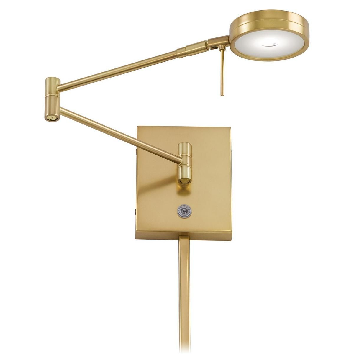George Kovacs Led Swing Arm Wall Lamp In Gold