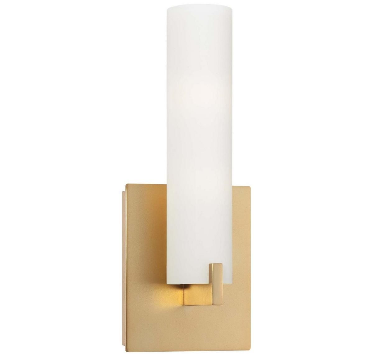 George Kovacs Tube 2 Light Wall Sconce In Honey Gold Wall Sconces