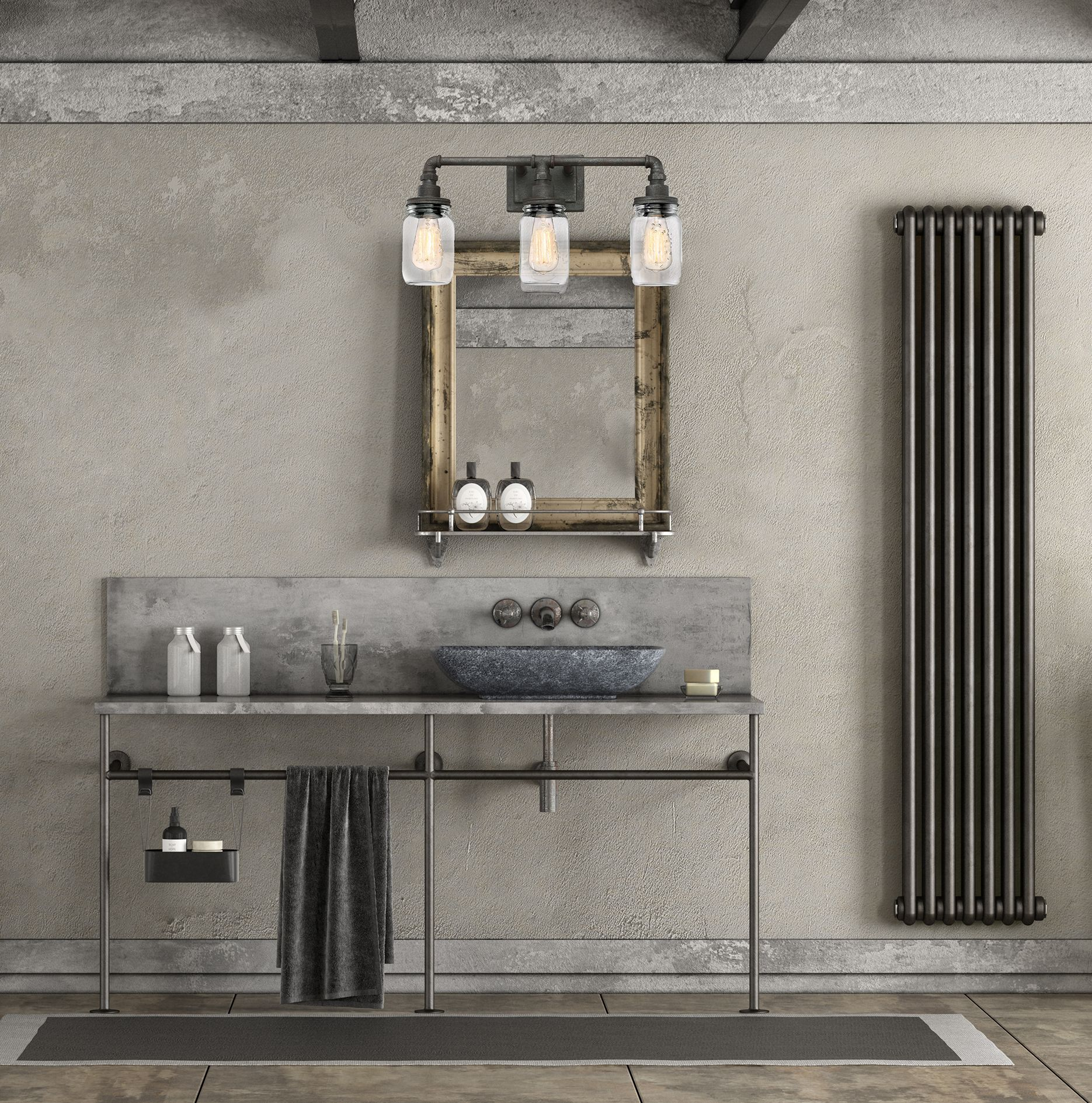 Quoizel Squire 21 5 Quot 3 Light Clear Glass Bathroom Vanity
