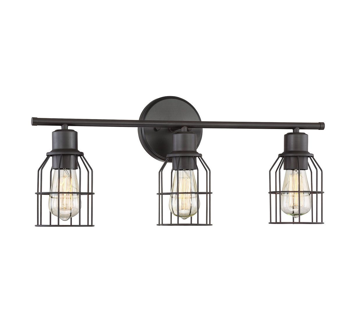 Trade Winds Lighting Industrial Wire 3-Light Bath Bar In