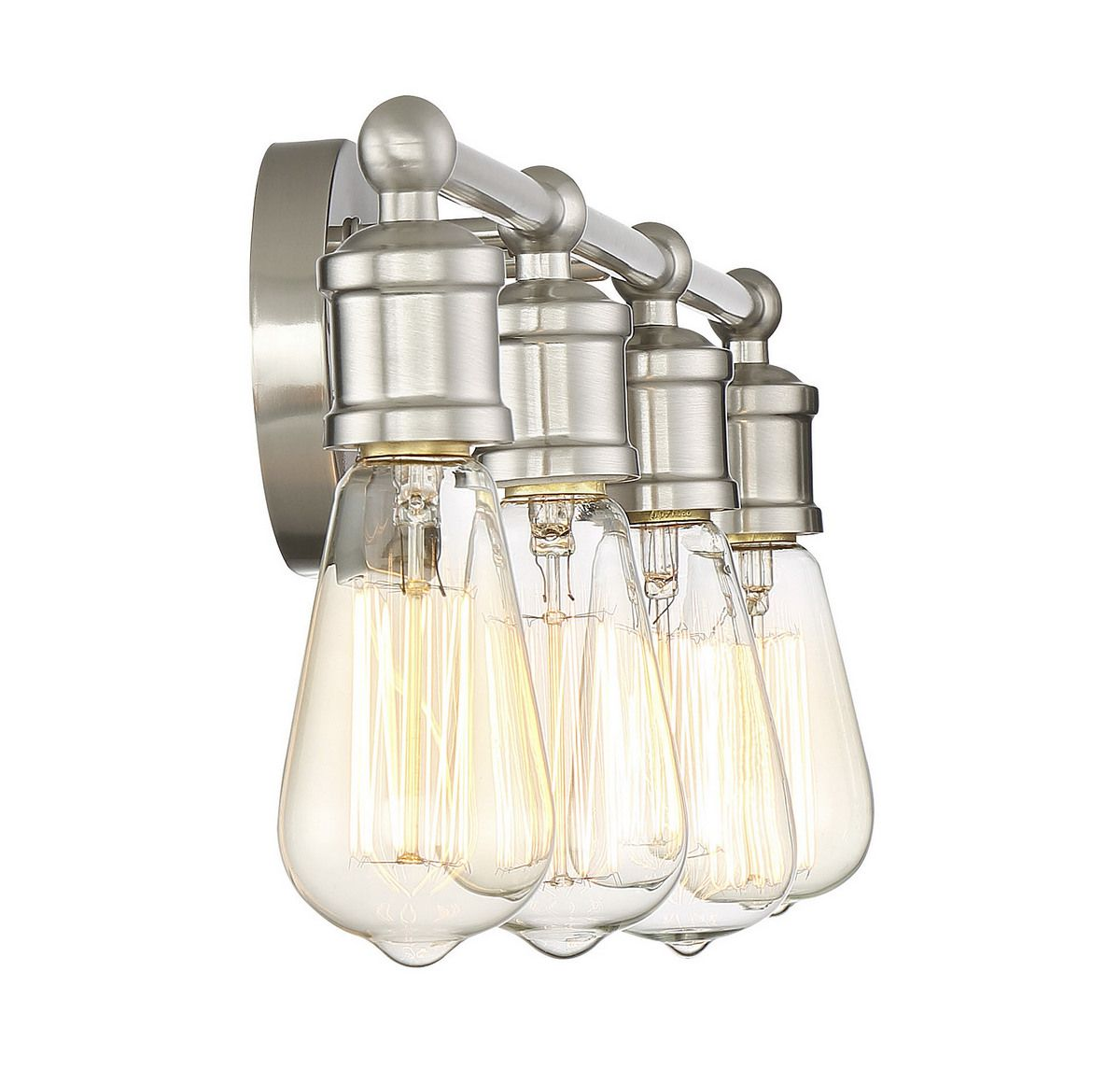 Trade Winds Lighting Industrial 4-Light Bath Bar In
