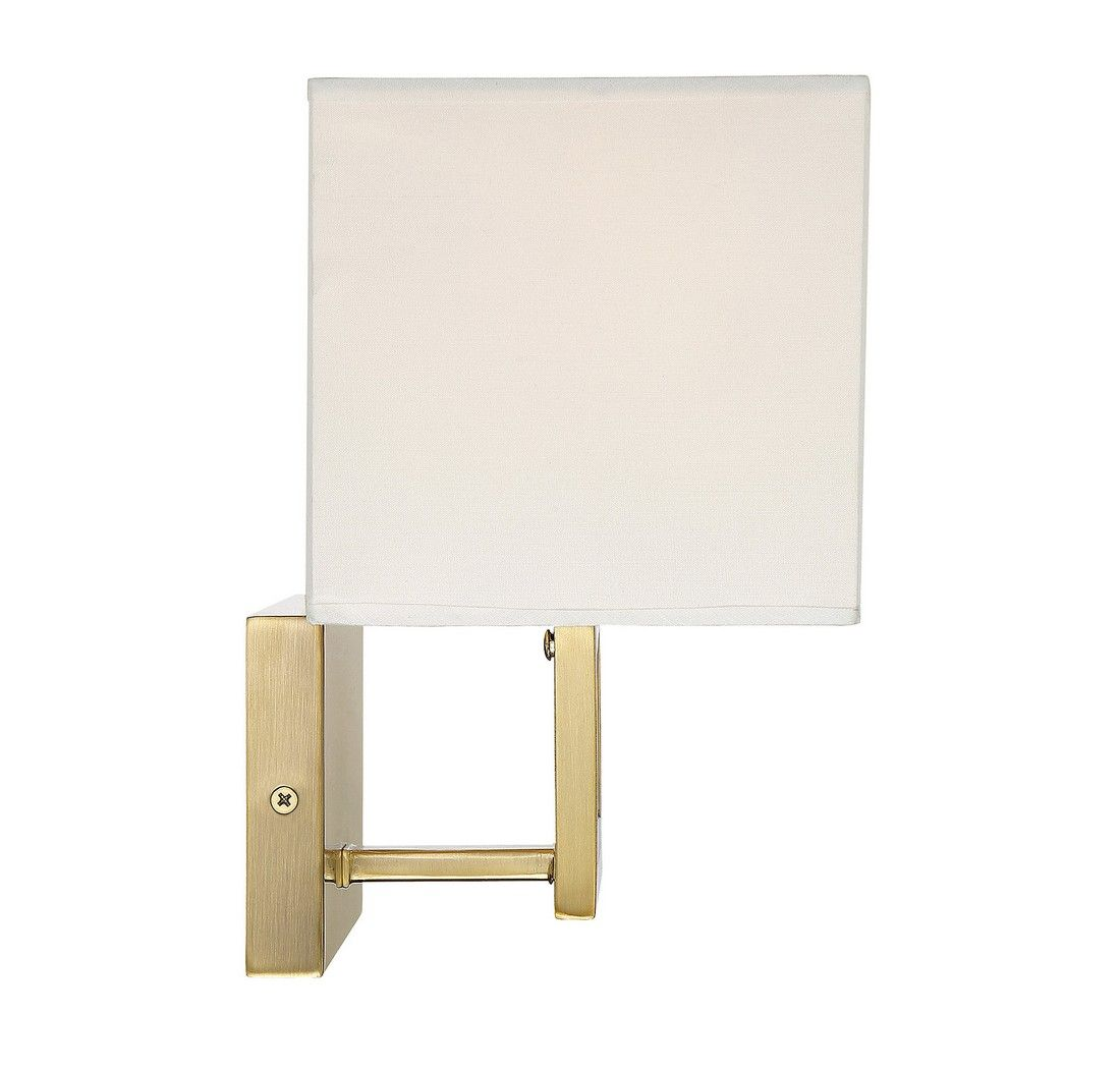 Trade Winds Lighting Rectangle 2 Light Sconce In Natural