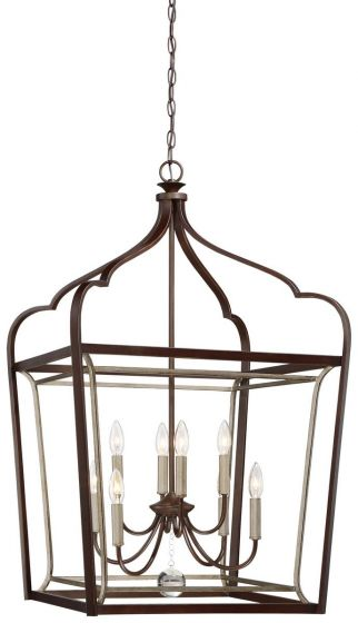 "Minka Lavery Astrapia 8-Light 23"" Pendant Light in Dark Rubbed Sienna with Aged S"