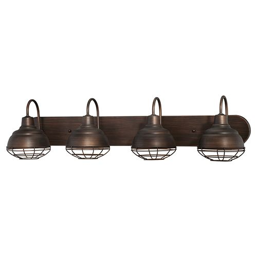 Millennium Lighting Neo-Industrial 4-Light Bath Vanity in Rubbed Bronze