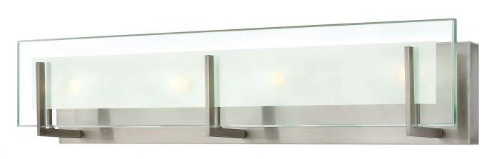 Hinkley Latitude Minimalist Bathroom Vanity Light in Brushed Nickel