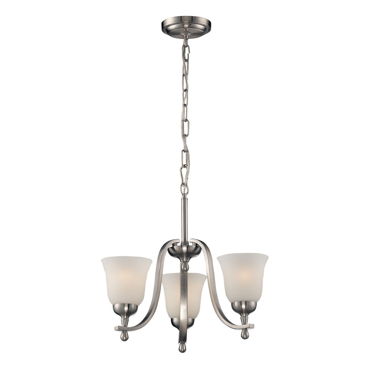Elk Lighting Mayfield 3 Light Chandelier In Brushed Nickel