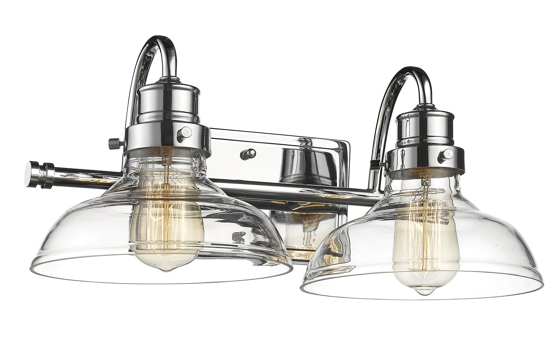 Millennium Restoration 2 Light Bathroom Vanity Light In Chrome Polish Nickel Finish