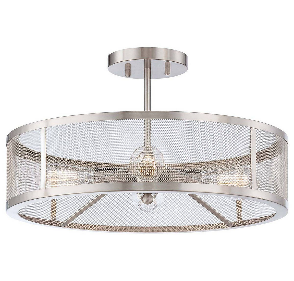 Minka Lavery Downtown Edison 4 Light 19 Ceiling Light In Brushed Nickel