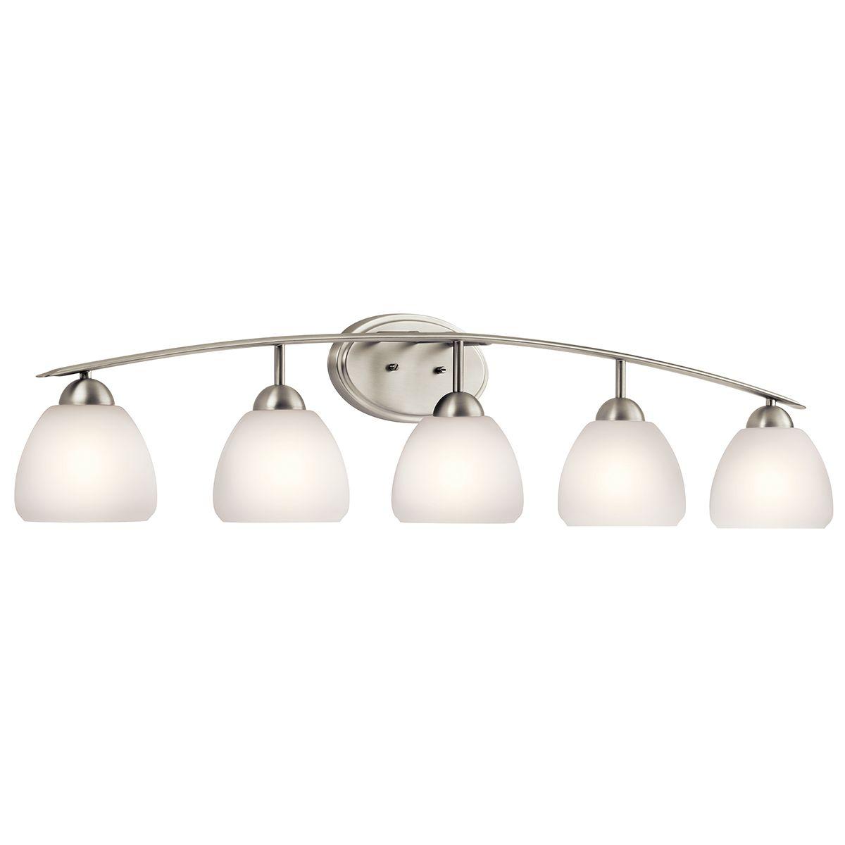 Stupendous Kichler Calleigh 5 Light Bathroom Vanity Light In Brushed Nickel Interior Design Ideas Clesiryabchikinfo