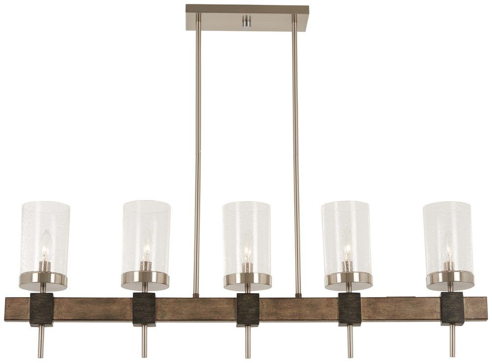 "Minka Lavery Bridlewood Stone Grey With Brushed Nickel: Minka Lavery Bridlewood 5-Light 40"" Pendant Light In Stone"