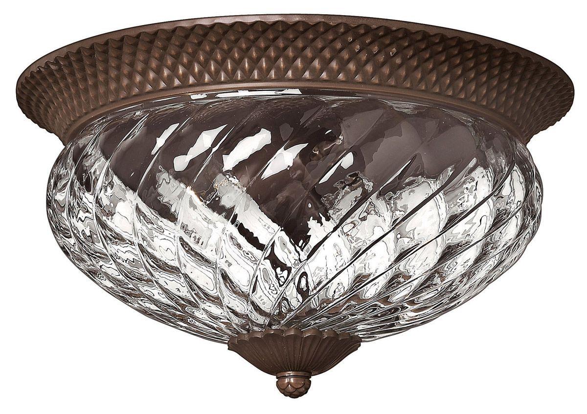 Hinkley Plantation 3 Light Pinele Ceiling In Copper Bronze