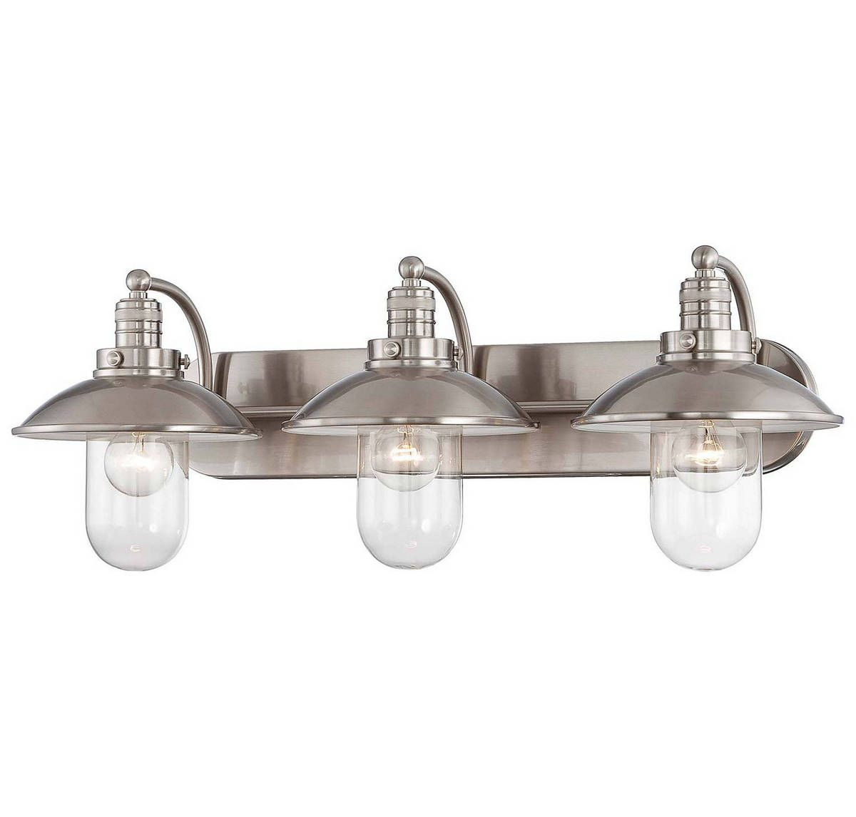 Minka Lavery Downtown Edison 3 Light 29 Bathroom Vanity Light In Brushed Nickel