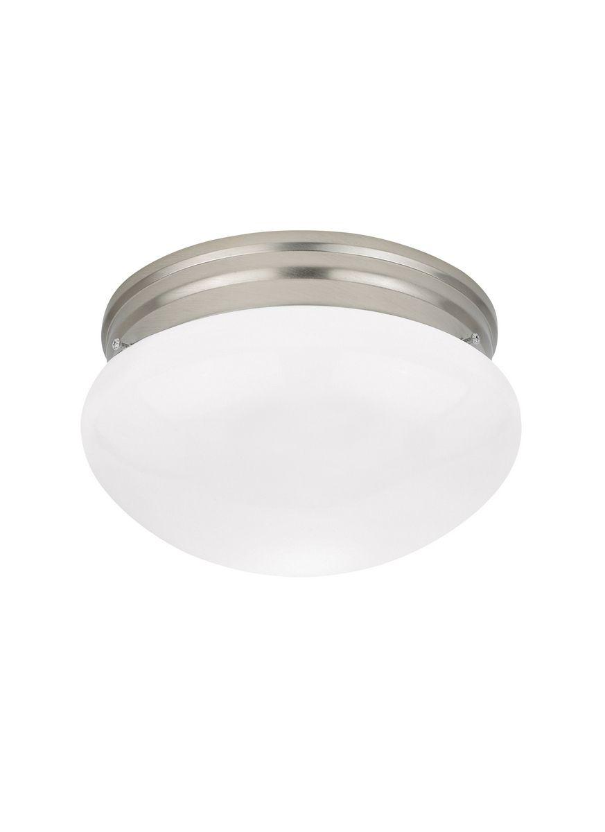 timeless design 7230c f9255 Sea Gull Lighting Webster 2-Light Ceiling Flush Mount in Brushed Nickel
