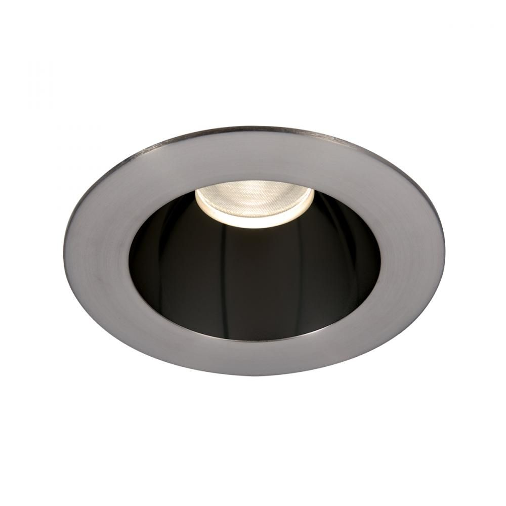 Wac Lighting Tesla Pro 1 Light 3 5in Led Round Open Reflector Trim With Engine In Black Brushed Nickel