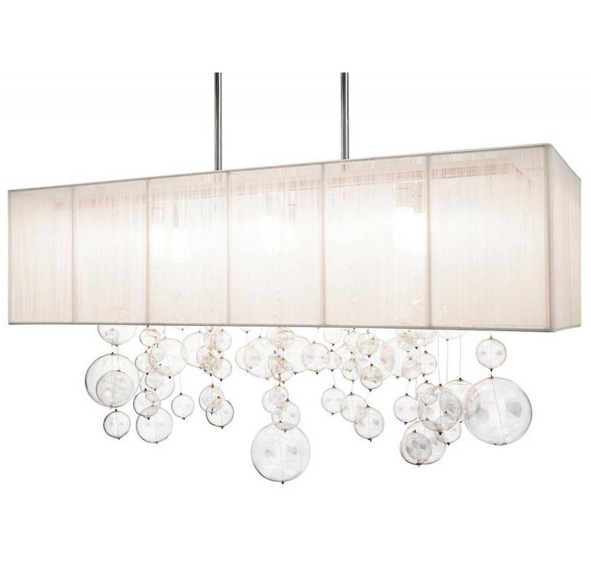 Elan imbuia 32 6 light bubble glass pendant light pendant pendant in chrome with white