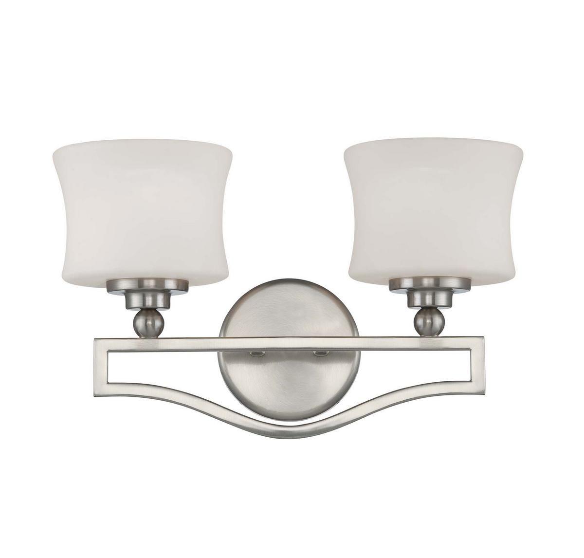 huge selection of 84a8c ed491 Savoy House Terrell 2-Light Bathroom Vanity Light in Satin Nickel