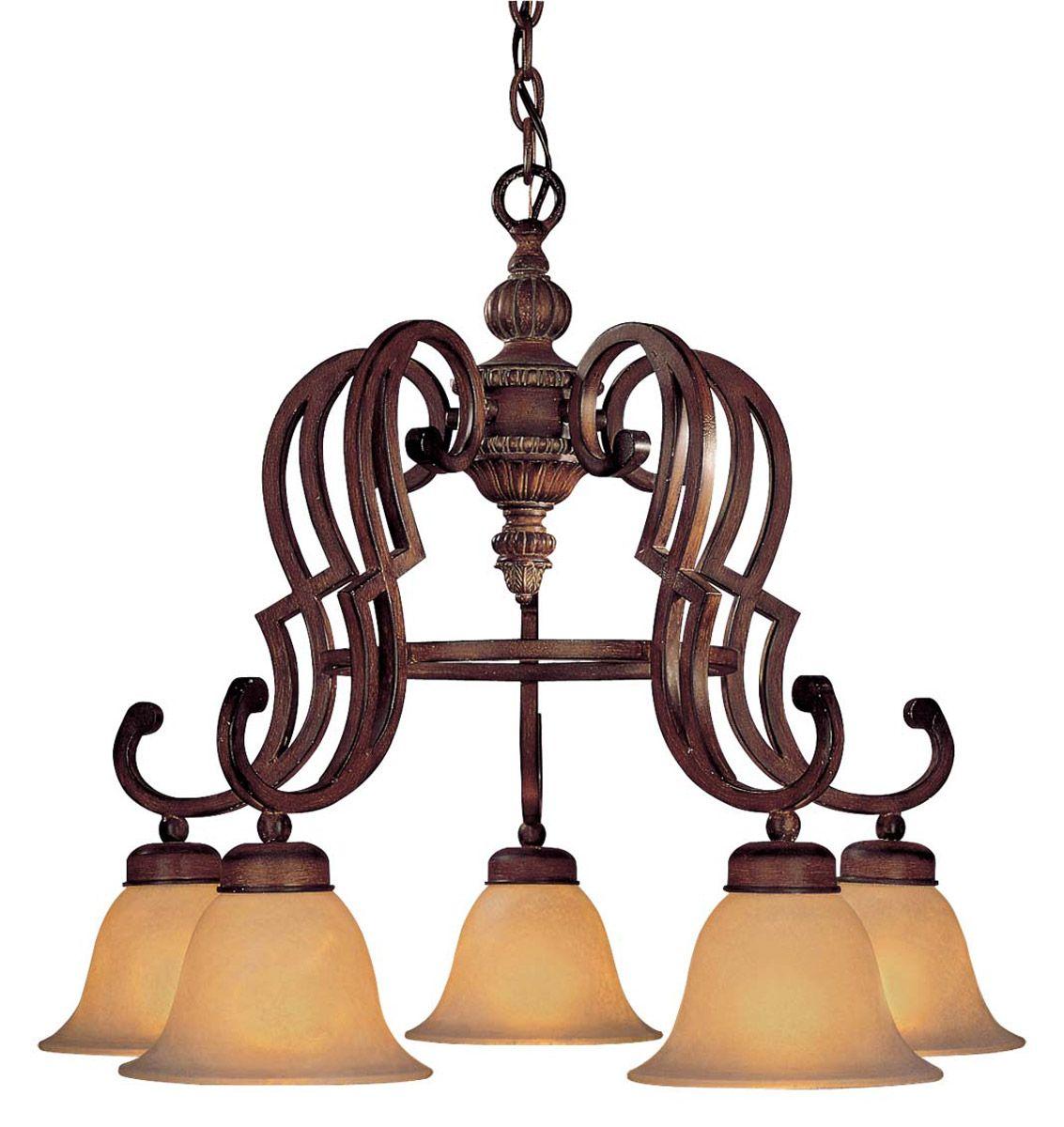 Minka Lavery Belcaro 5 Light Chandelier In Bronze