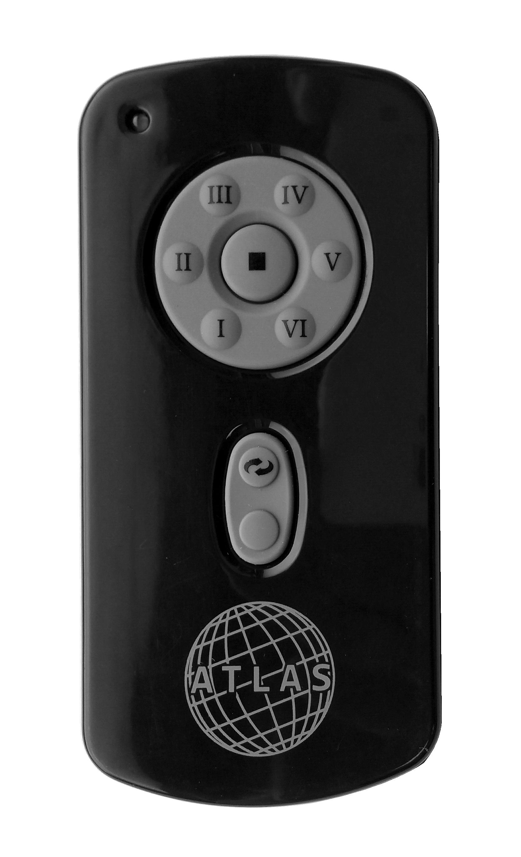 Atlas Remote Control Ceiling Fan Controls In Black