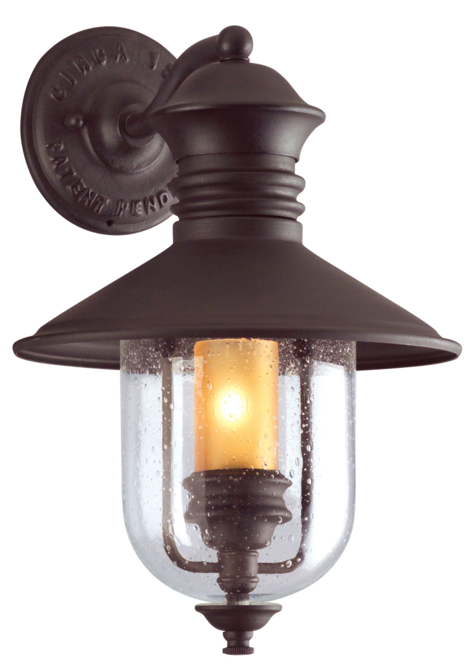 Troy Old Town 16 Outdoor Wall Light In Natural Bronze