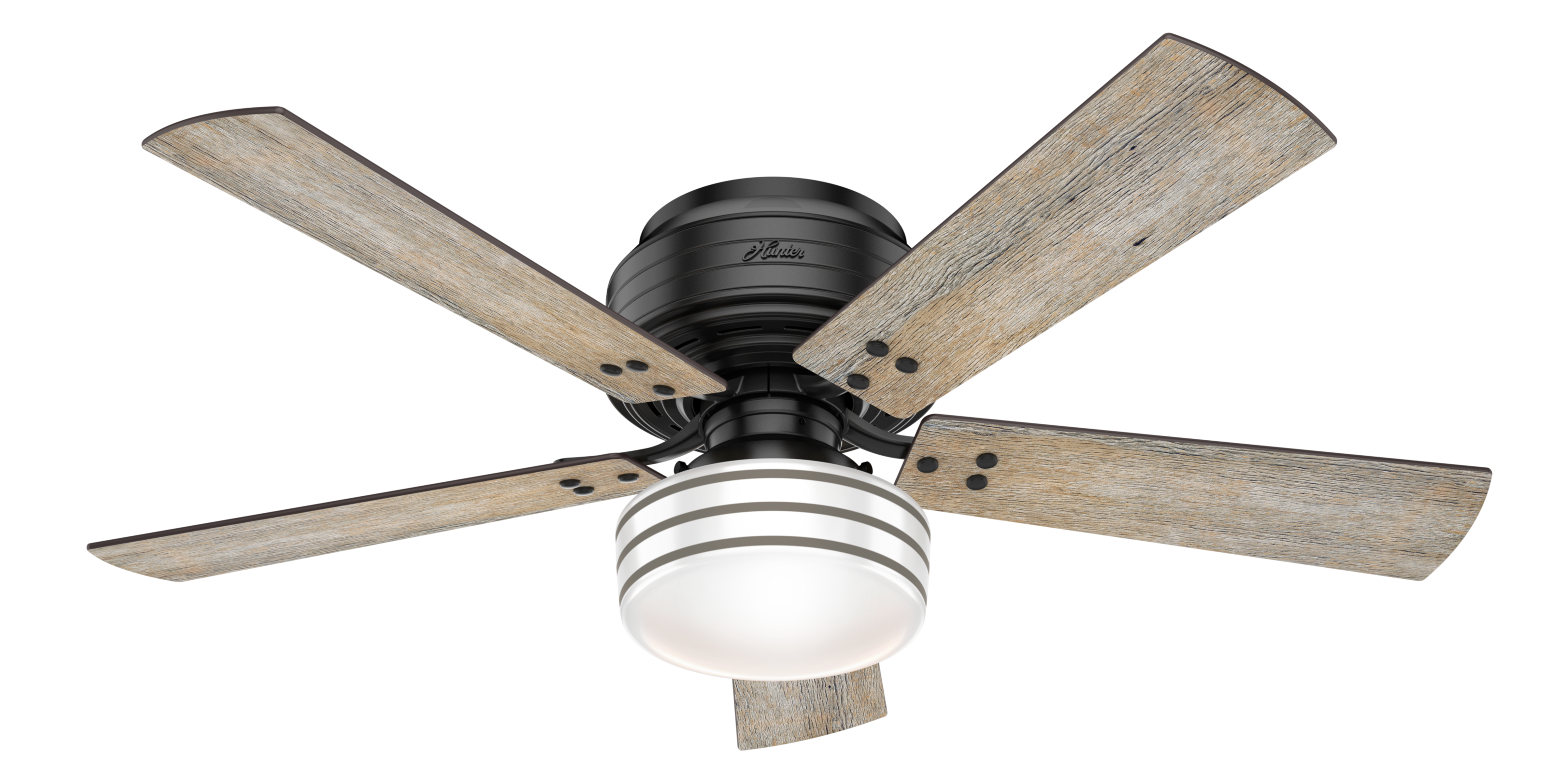 Miraculous Hunter Cedar Key Low Profile 52 Indoor Outdoor Ceiling Fan In Matte Black Download Free Architecture Designs Scobabritishbridgeorg