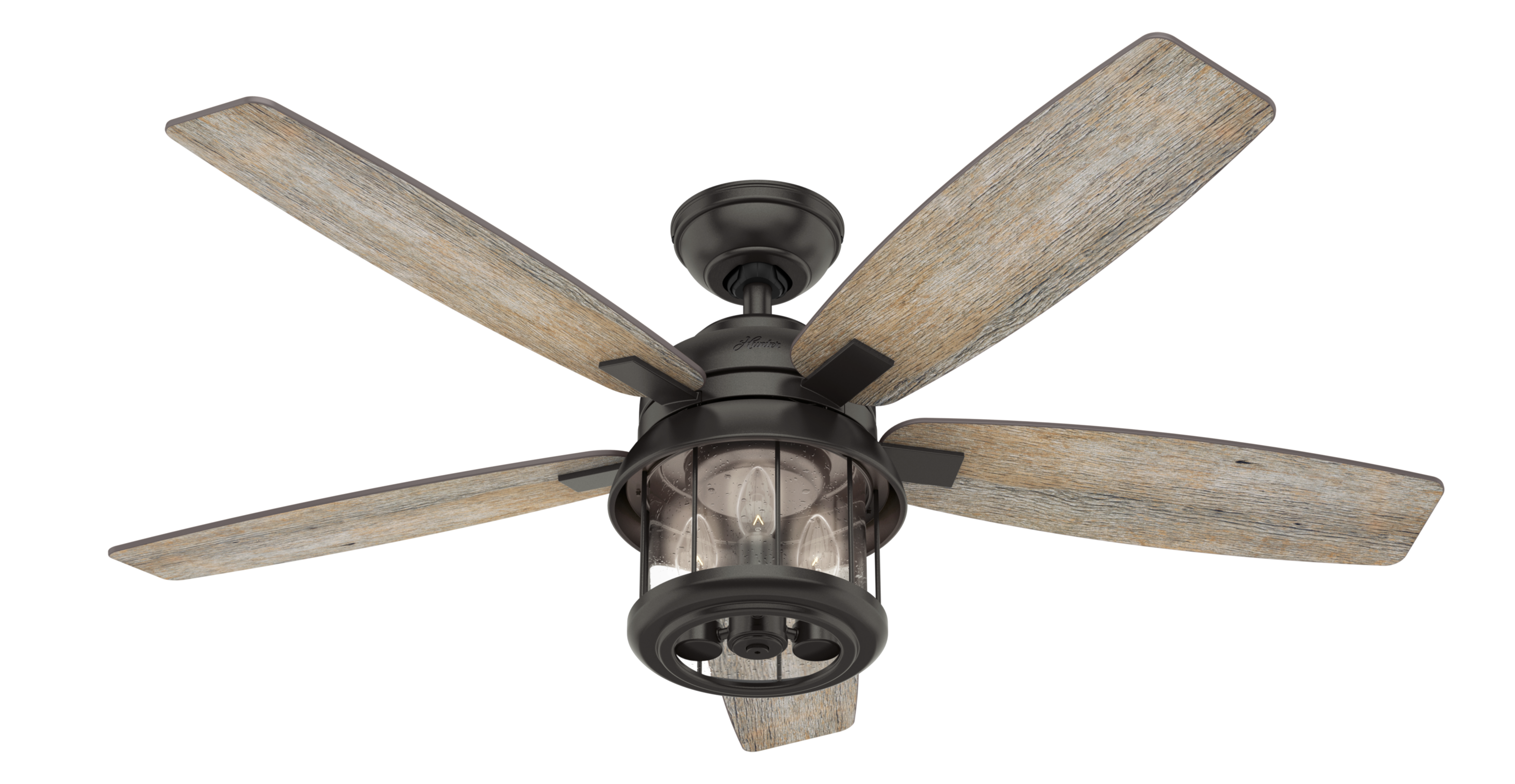 Hunter Fans Coral Bay 3 Light 52 Quot Indoor Outdoor Ceiling Fan In Noble Bronze Modern Farmhouse