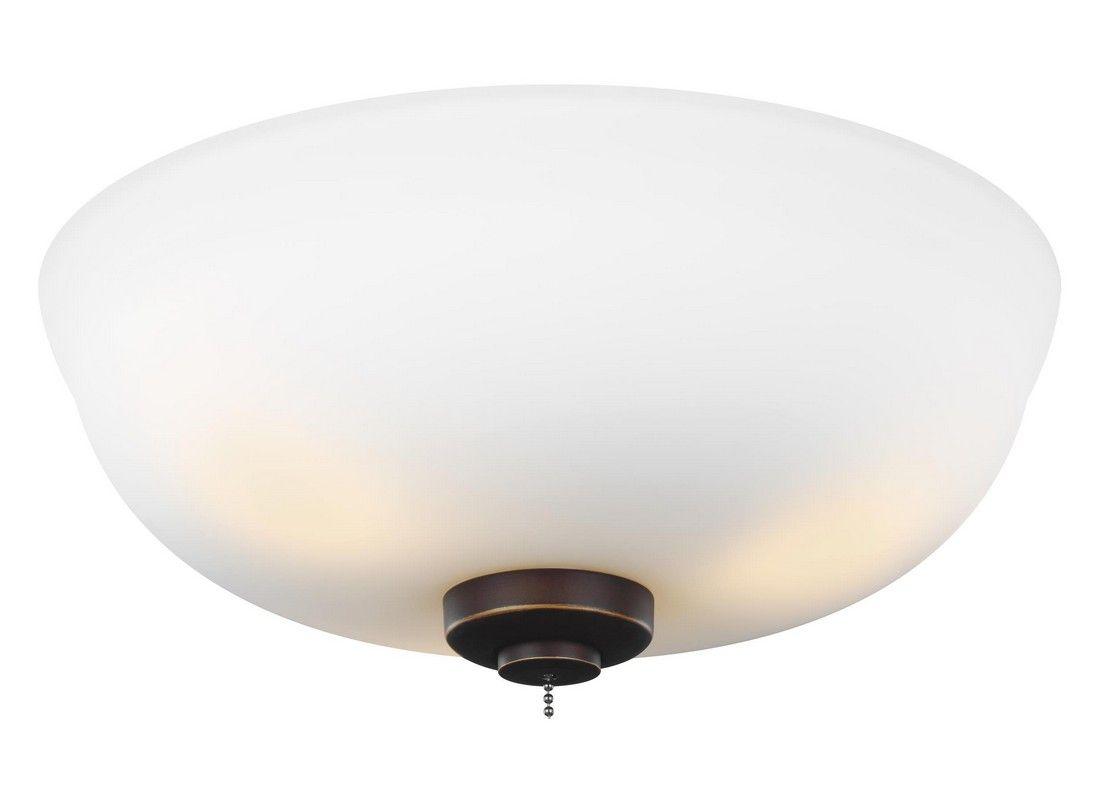 Monte Carlo 12 5 3 Light Matte Opal Ceiling Fan Kit In Roman Bronze