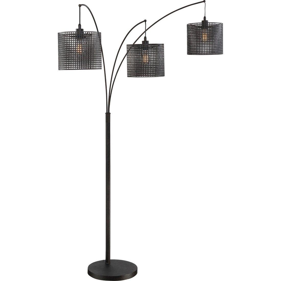 Quoizel Stargaze 3 Light 93 Floor Lamp In Earth Black