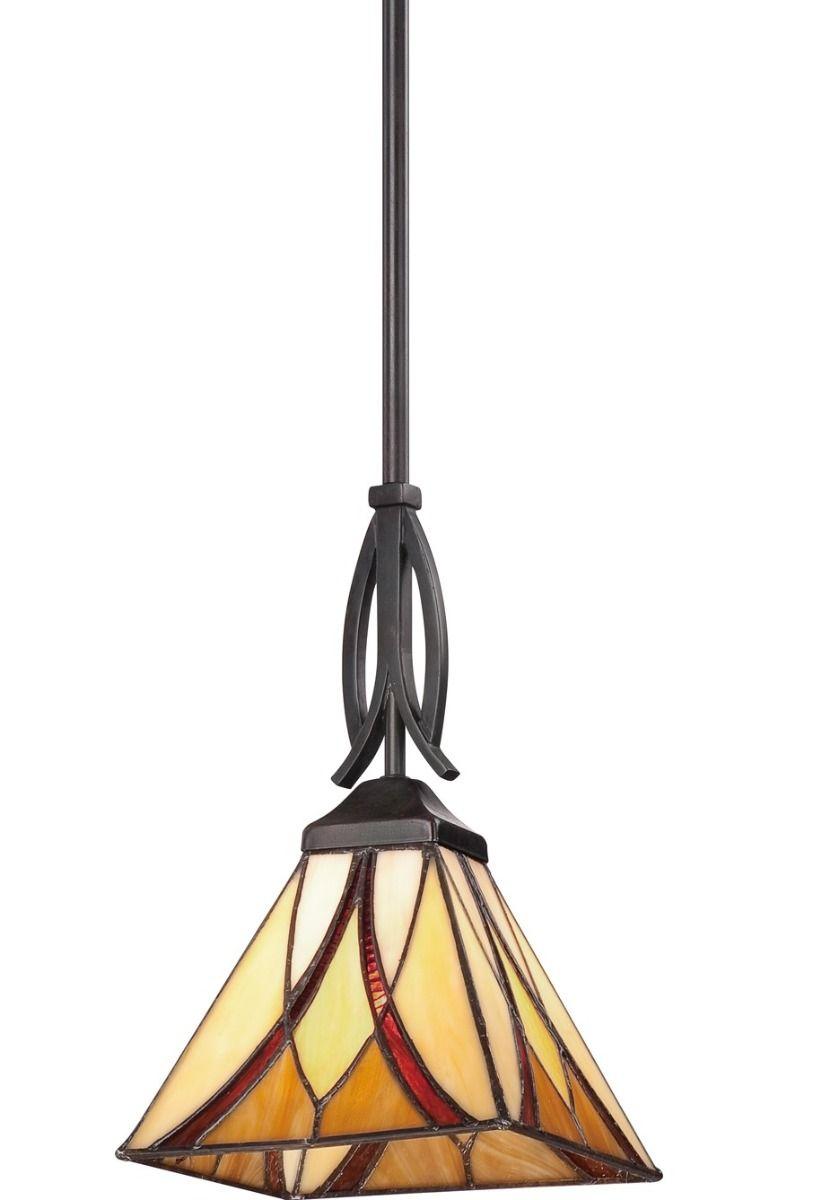 Quoizel Asheville 7 Pendant Light In Valiant Bronze