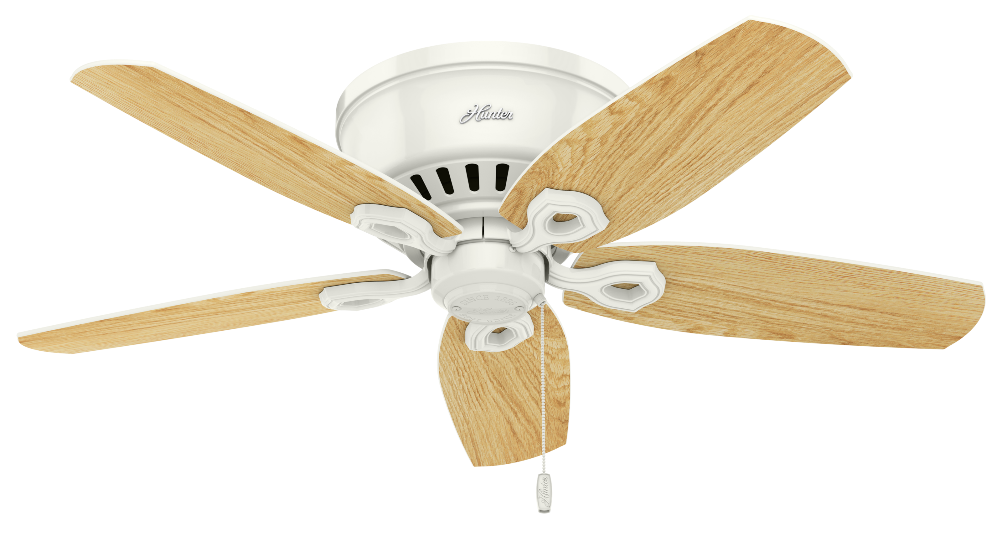 Hunter Builder Low Profile 3 Light 42 Quot Indoor Ceiling Fan In Snow White Indoor Ceiling Fans