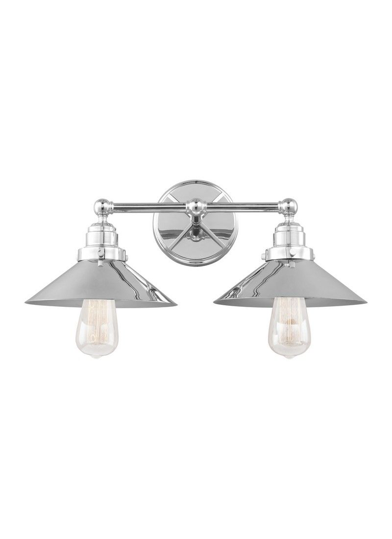 Feiss Hooper 19 75 2 Light Bathroom Vanity Light In Chrome
