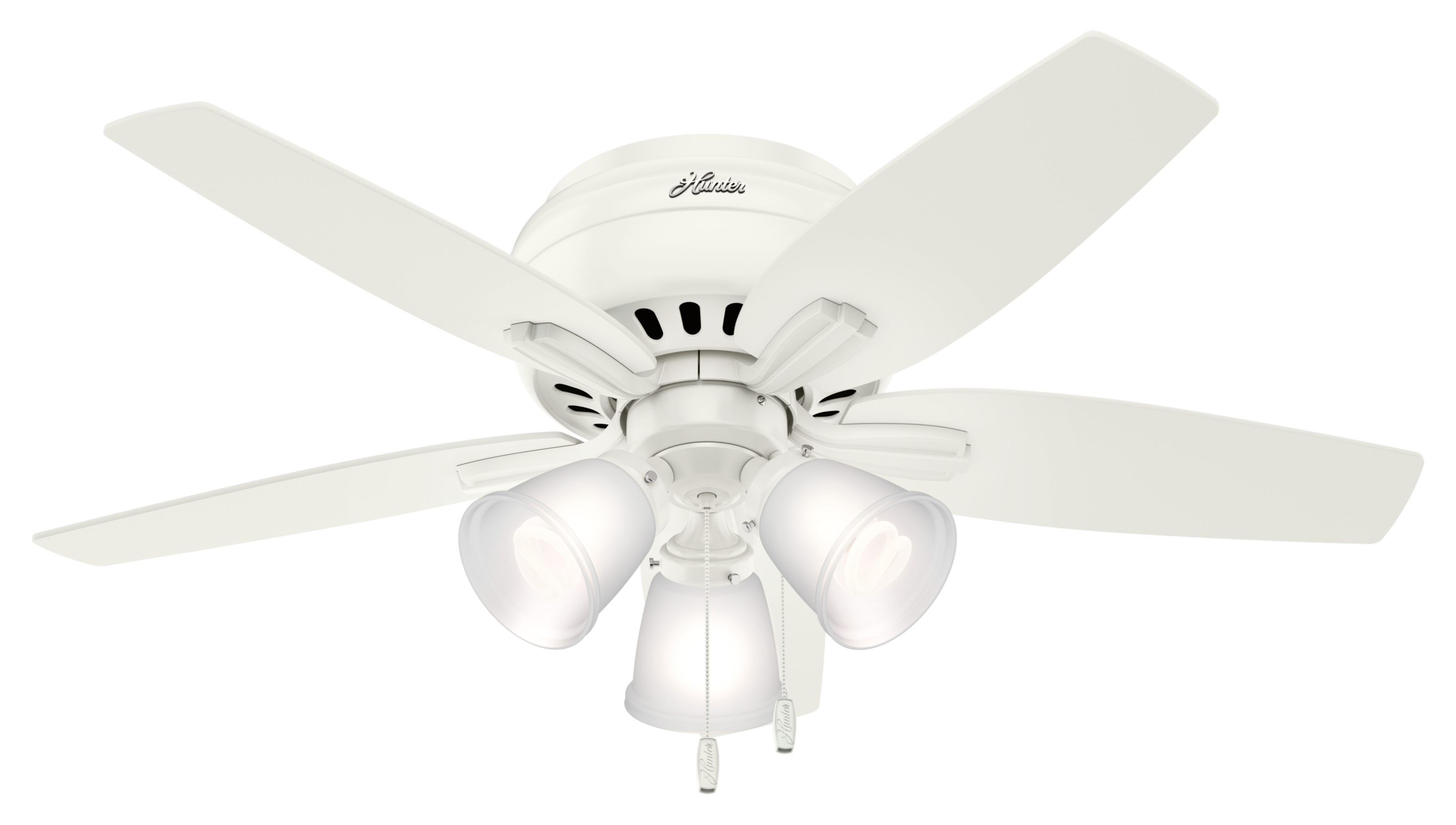 "Hunter Newsome Low Profile 3-Light 42"" Indoor Ceiling Fan ..."