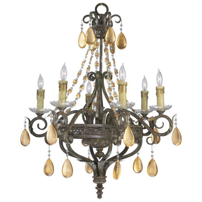 Cyan design wood iron 29 6 light dorato chandelier in autumn dusk cyan design wood iron 29 6 light dorato chandelier in autumn dusk chandeliers aloadofball Images