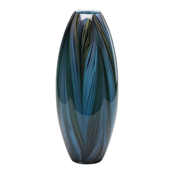 Cyan Design Peacock Feather 20 Glass Vase In Multi Colored Blue
