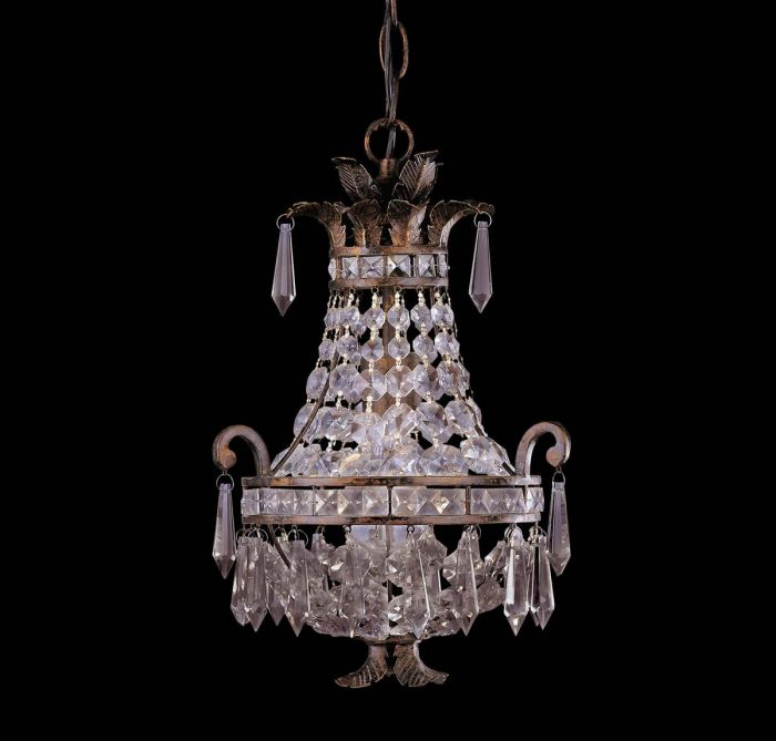 Savoy House 1-light mini chandelier in new tortoise shell - Top 20 Chandeliers - Lights Online Blog