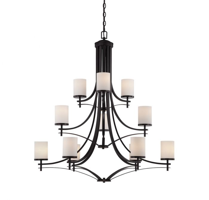 Savoy House Colton 12-light chandelier in English bronze - Top 20 Chandeliers - Lights Online Blog