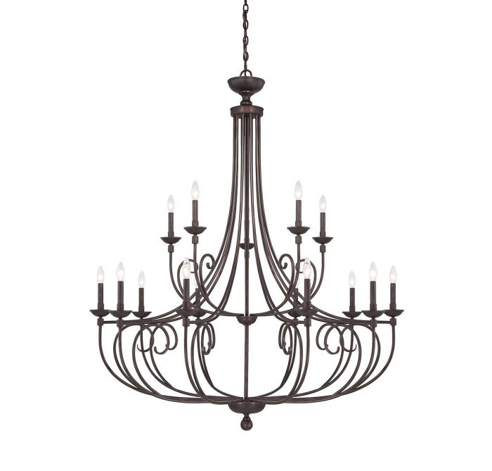 Savoy House Langley 15 Light Chandelier In English Bronze Transitional Chandeliers