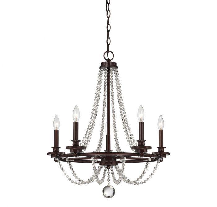 Savoy House Byanca 5-light chandelier in Mohican bronze - Top 20 Chandeliers - Lights Online Blog