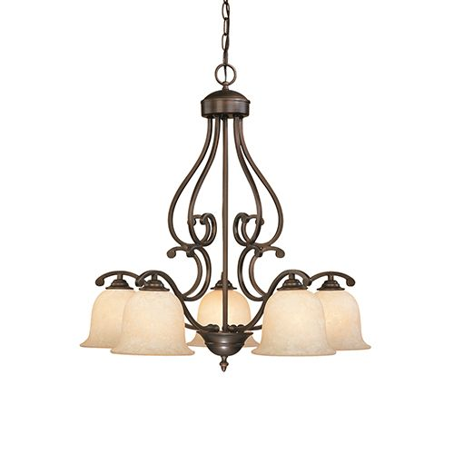 Millennium Lighting Courtney Lakes 5 Light Chandelier In Rubbed Bronze Contemporary Chandeliers