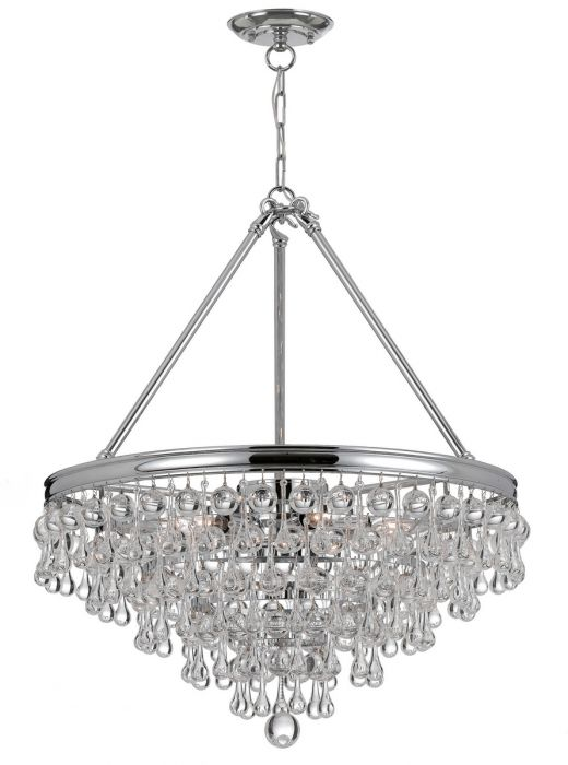 Crystorama Calypso 8 Light Chandelier In Polished Chrome Crystal Chandeliers
