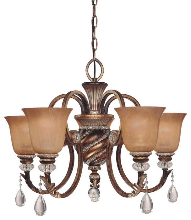Minka Lavery Aston Court 5-light chandelier in bronze - Top 20 Chandeliers - Lights Online Blog