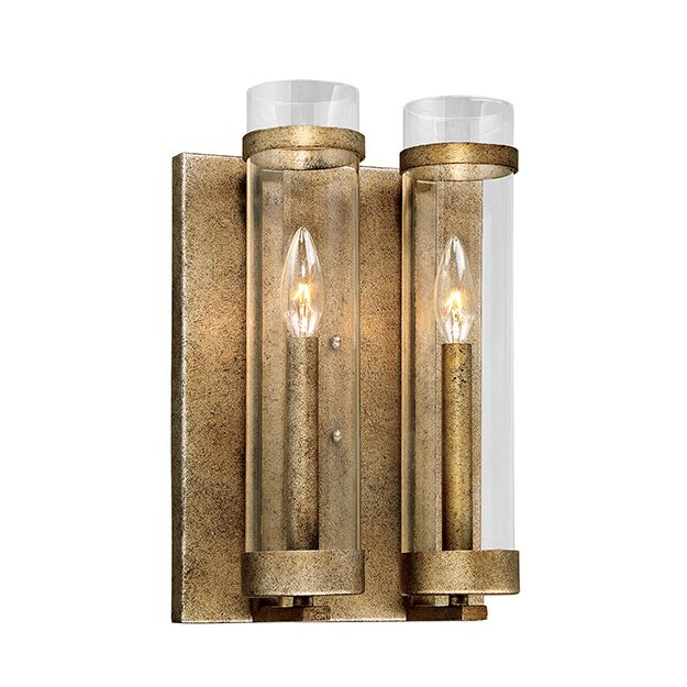 Millennium Lighting Milan 2-Light Wall Sconce in Vintage Gold - Wall ...